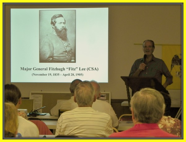 Author and historian Robert N. Macomber speaks to the Palm Beach County Civil War Round Table.