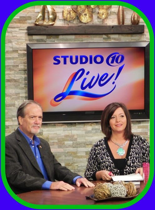 Getting ready to go on air at Studio 10 Live [WTSP-TV] in St. Pete, FL ~ broadcast across the Tampa Bay area [October 2015]