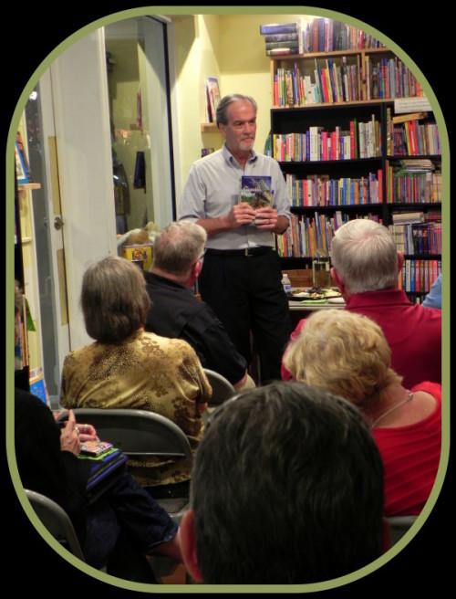 Macomber speaking at Barrel of Books and Games in Mount Dora, Florida on November 20, 2015