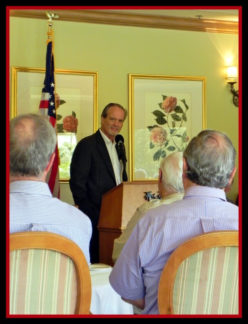 """Florida author, Robert N. Macomber speaks to the Reserve Officers Association [ROA] of Naples/Marco Island about a Civil War event ~ his talk was titled """"The Sword of Key West"""""""