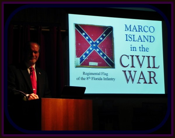 """Historian and acclaimed author, Robert N. Macomber presents """"Marco Island In the Civil War"""" to the Marco Island Historical Society to a full house!"""