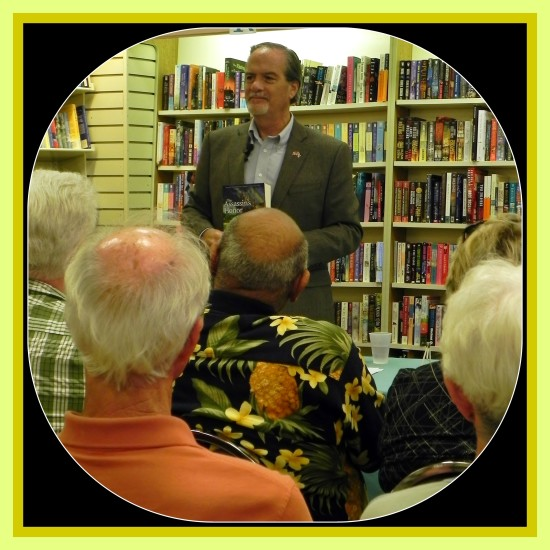 Author of the award-winning Honor Series, Robert N. Macomber gives the insider's stories to a keenly interested audience at the Vero Beach Book Center featuring his 12th novel, The Assassin's Honor.