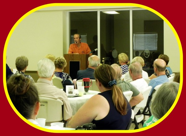 """Author & lecturer Robert N. Macomber speaking at the Lee County Genealogical Society on """"Planning A Research Trip"""" which had a full house attendance!"""