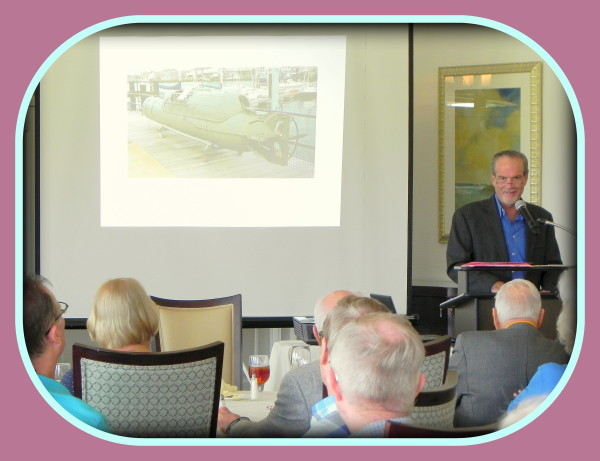 Author & lecturer of amazing historical fact, Robert N. Macomber is back at the ROA [Reserved Officers of America] luncheon for the Naples-Marco Island Chapter.