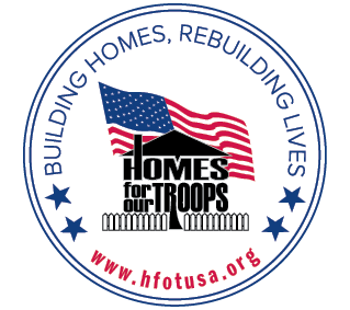 Homes for our Troops donation recipient from my 2017 Book Bash on April 1, 2017 - a 4 star charity on Charity Navigator