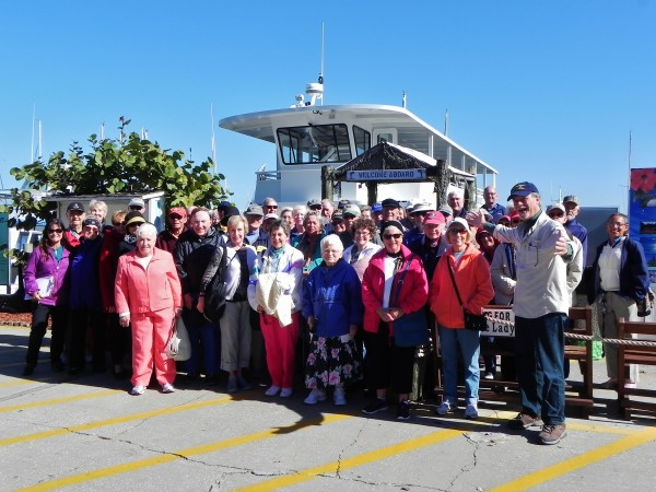 """Shell Point Community's """"Academy On The Go"""" takes a Peace River History Tour with historian Robert N. Macomber on King Fisher Fleets in Punta Gorda, FL"""