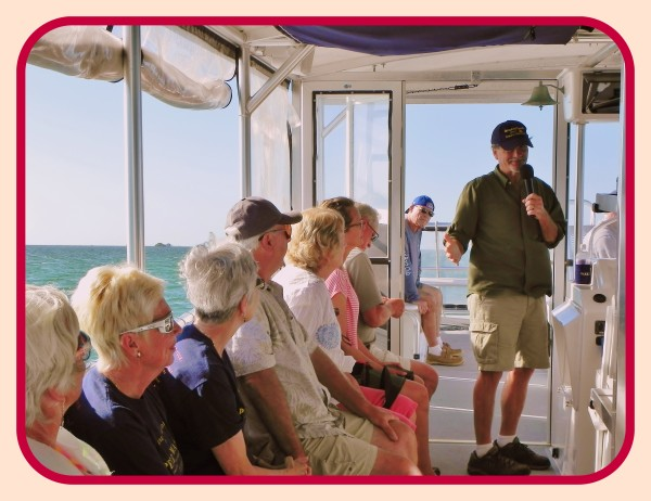 Celebrating the 100th Anniversary of Theodore Roosevelt's last visit to Southwest Florida touring the waters of Pine Island Sound on Island Girl Charters with author and historian, Robert N. Macomber.