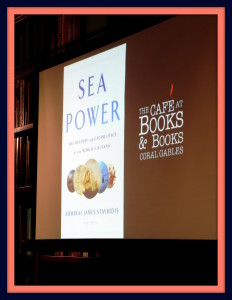 Robert Macomber had the honor of introducing his friend Admiral James Stavridis USN [Ret] who presented his new book: Sea Power at Books & Books in Coral Gables, FL.