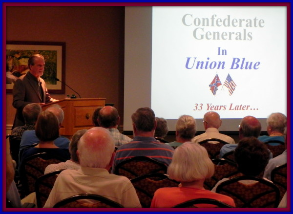 Author & historian Robert N. Macomber speaks at Shell Point Community's Academy of Lifelong Learning.