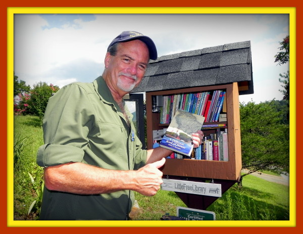 Author Robert N. Macomber continues his Little Free Library donation tour in Murphy, NC the day after the Total Solar Eclipse!