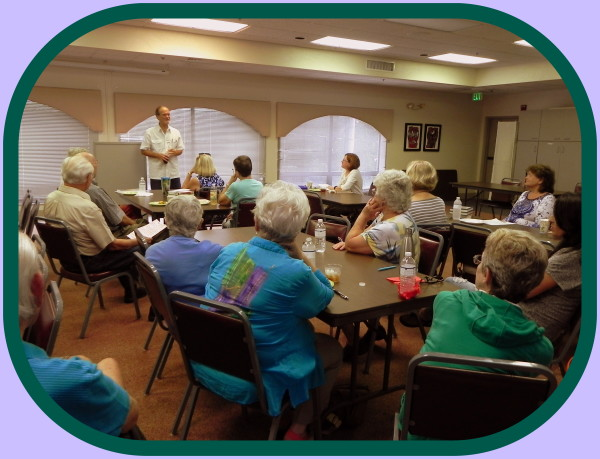 Covenant Presbyterian Church Book Club chose Robert N. Macomber novels 2 months in a row in honor of his visit!