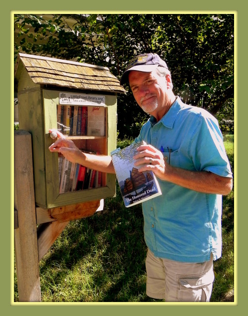 Author & historian Robert N. Macomber is happy to have a chance to donate to another great Little Free Library, this time in Nashville, TN since I'm here for the Southern Festival of Books to talk on my novel, An Honorable War.