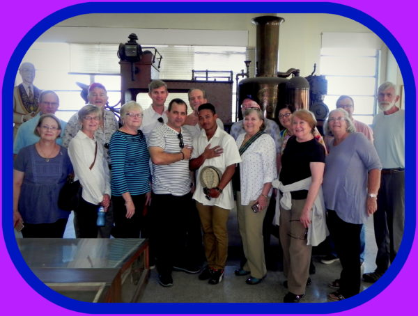 Gathered inside the Grand Masonic Lodge Museum in Havana, Cuba with the Museum Director on a private tour, we pose to reflect on such a magnificent adventure!