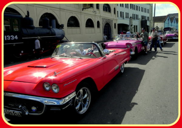 Couldn't resist posting another automobile photo because our Havana Reader Rendezvous participants thoroughly enjoyed their classic car ride through Havana, Cuba in these convertibles.