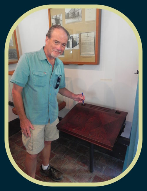 Author & historian, Robert N. Macomber is thrilled to take his readers on his Havana Reader Rendezvous to see Jose Marti's desk at Marti's birthplace museum in Havana, Cuba in December 2017.