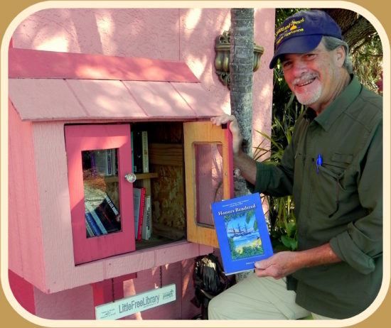 Author Robert N. Macomber donates his novel, Honors Rendered to the neighborhood library Charter # 20562 in Bonita Springs, Florida.